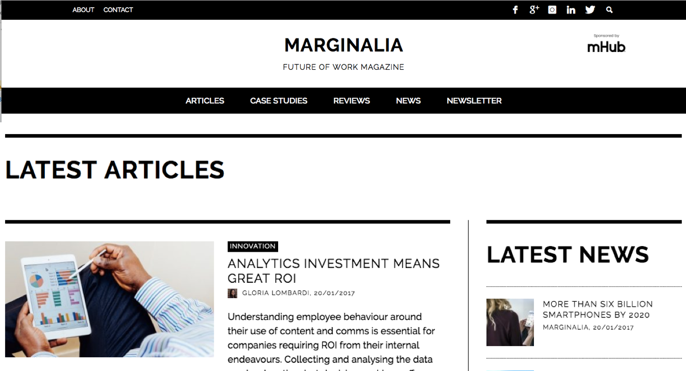 mHub become Official Sponsor of Maginalia - The Future of Work publication 1