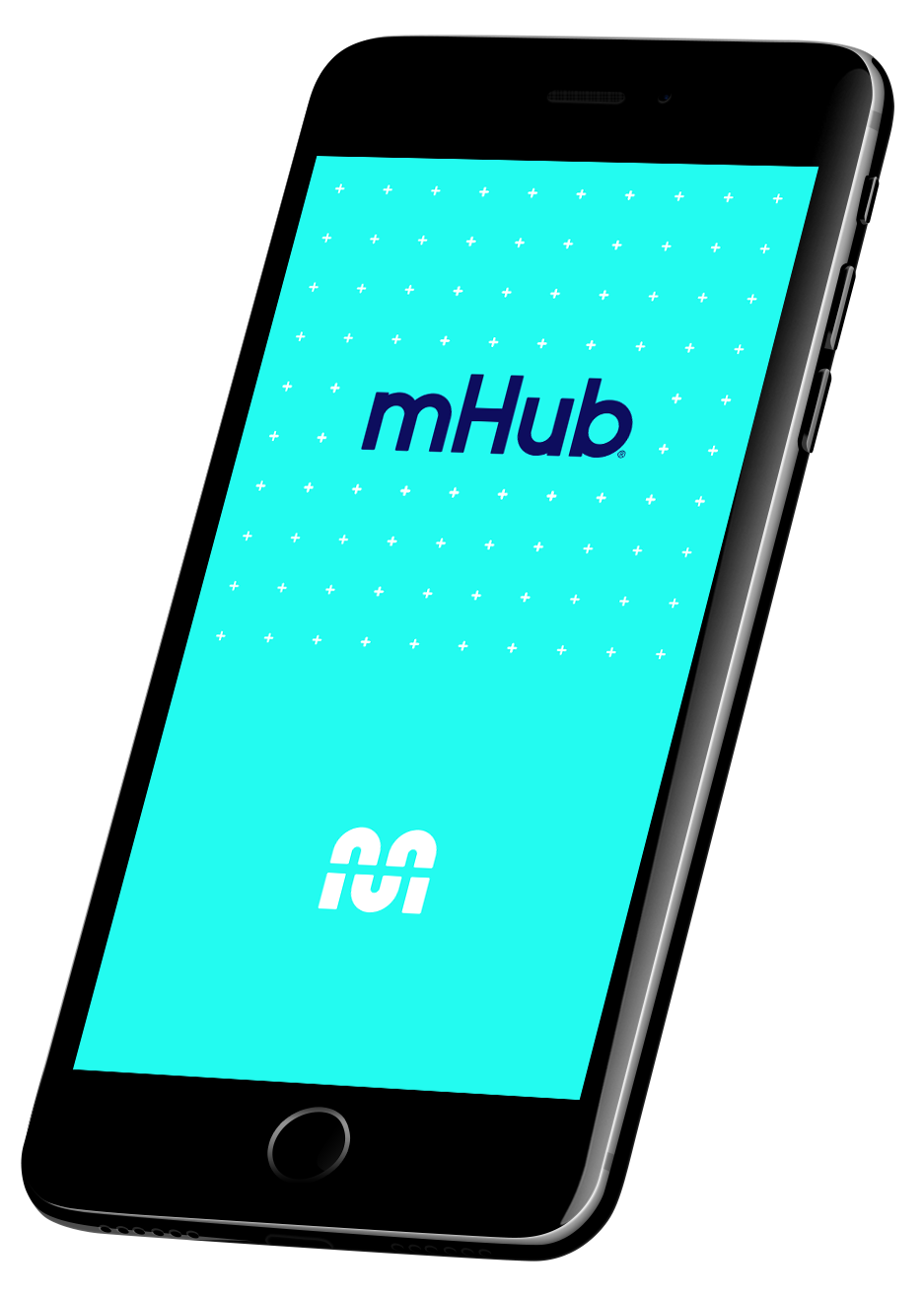 Phone showing mHub logo