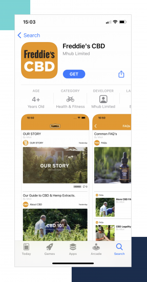 Freddies CBD app store copy